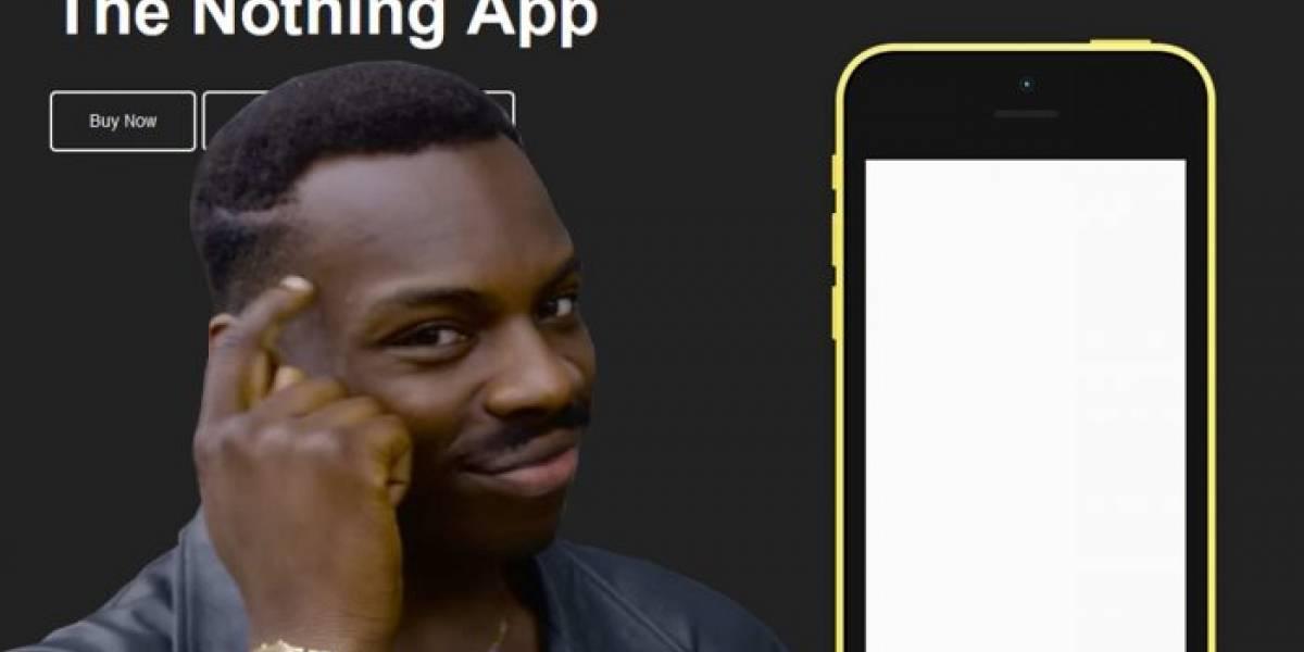 Nothing, la app que no hace nada supera el millón de descargas