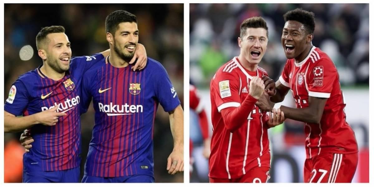 Barça y Bayern parten como favoritos para sus duelos en la Champions
