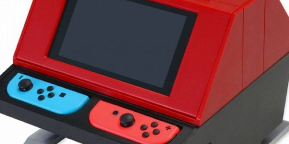 Crean accesorio que convierte a la Nintendo Switch en un gabinete arcade