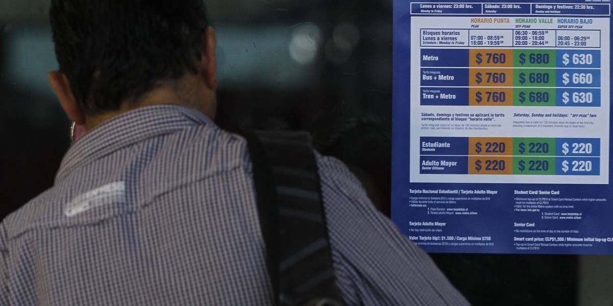 Capitalinos amanecieron con alza de $20 en Transantiago, Metro y tren a Nos