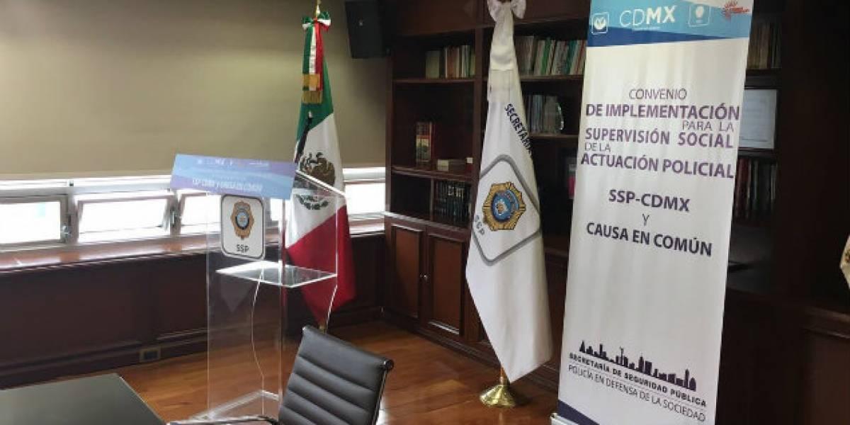 Causa en Común rescinde convenio de colaboración con la SSP-CDMX