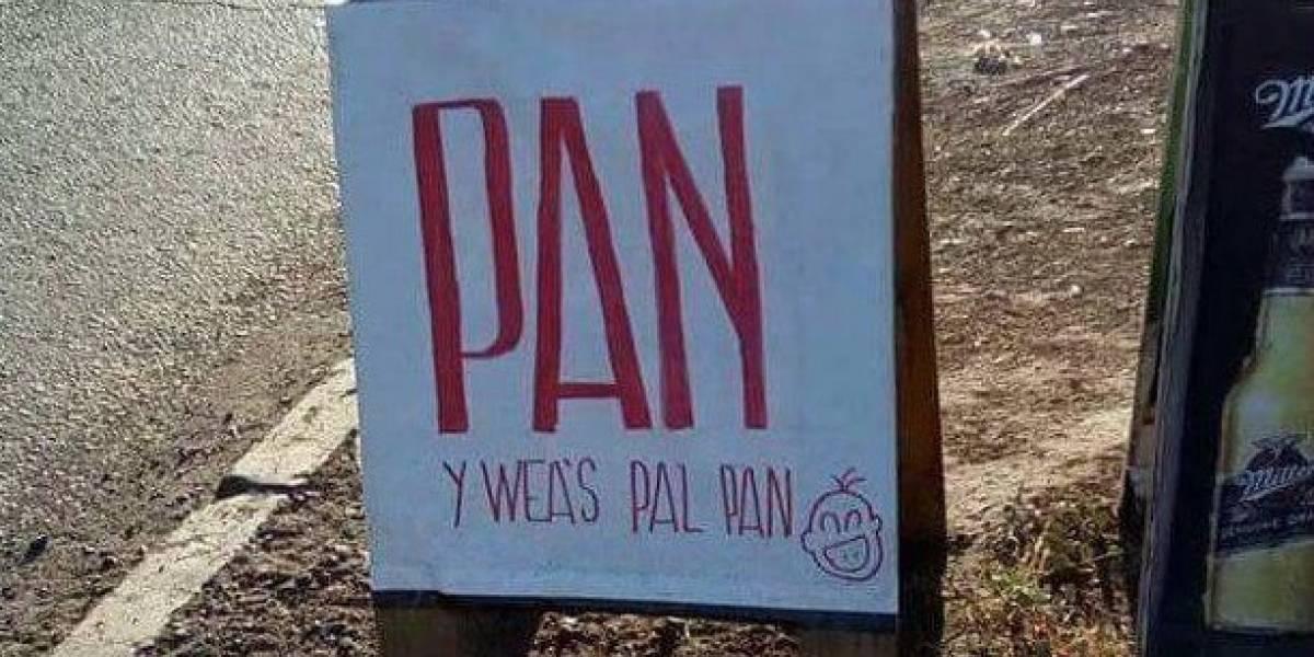 """""""Almacén chileno que se respeta"""": el épico letrero de pan que muestra toda la creatividad nacional"""