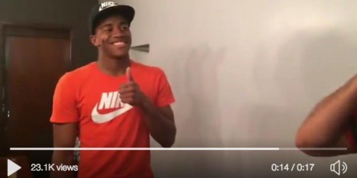 Wuilker Faríñez, protagonista de un chiste en video que se hizo viral