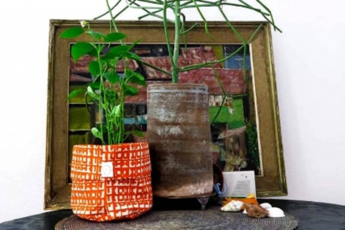 Viste Tu Jardin Y Sus Maceteros De Tela Para Decorar Plantas Y - Tela-para-jardin
