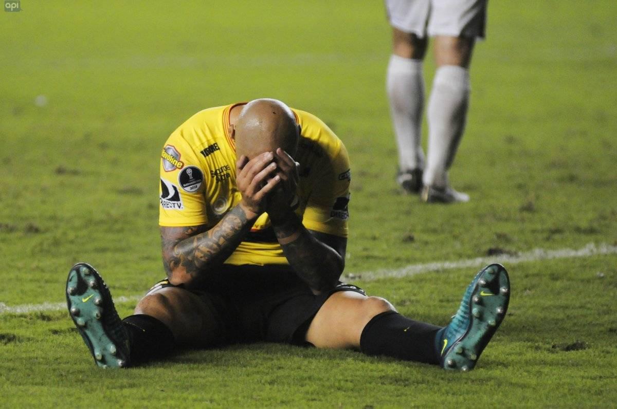 Ariel Nahuelpán quedó descartado para el duelo ante Macará, tras su conflicto con Barcelona SC API
