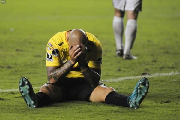 Ariel Nahuelpán quedó descartado para el duelo ante Macará, tras su conflicto con Barcelona SC