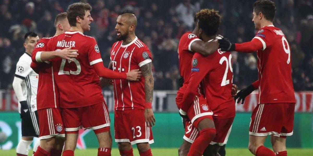 Así vivimos la goleada que le propinó el Bayern de Vidal al Besiktas de Medel