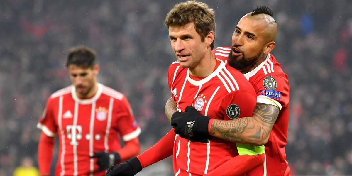 El Bayern de Vidal dejó prácticamente sin vida al Besiktas de Medel en la Champions