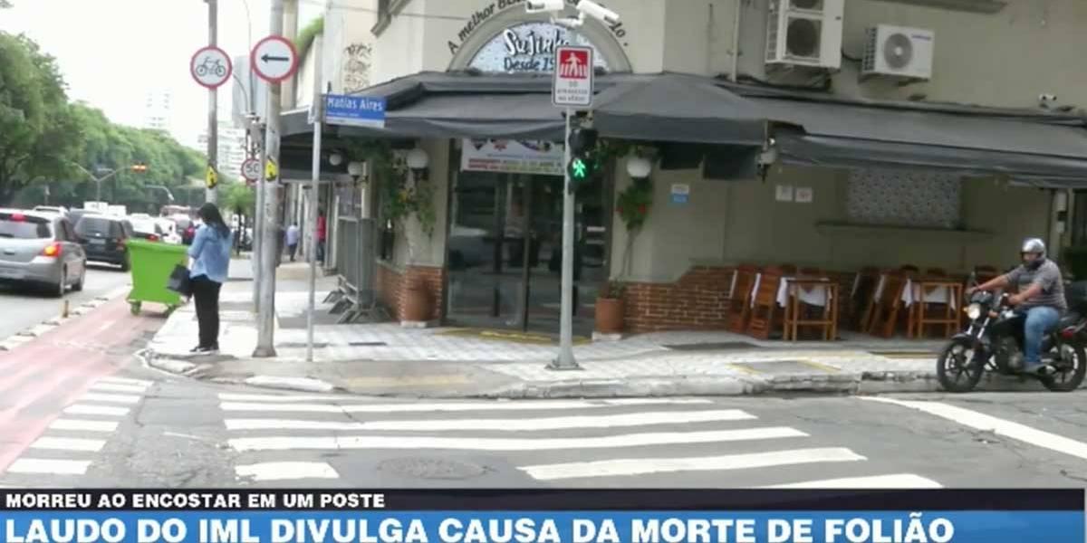 Laudo do IML divulga causa da morte de folião no carnaval de SP