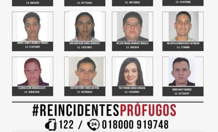 Conozca los 20 ladrones más buscados en Medellín