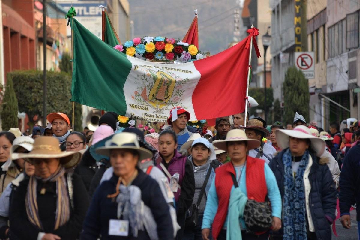 Los peregrinos partieron de Toluca Foto: Cuartoscuro