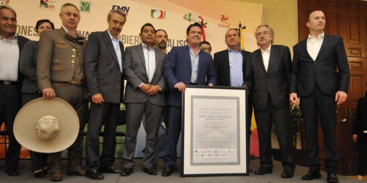 Dirigentes deportivos reconocen al gobernador de Jalisco