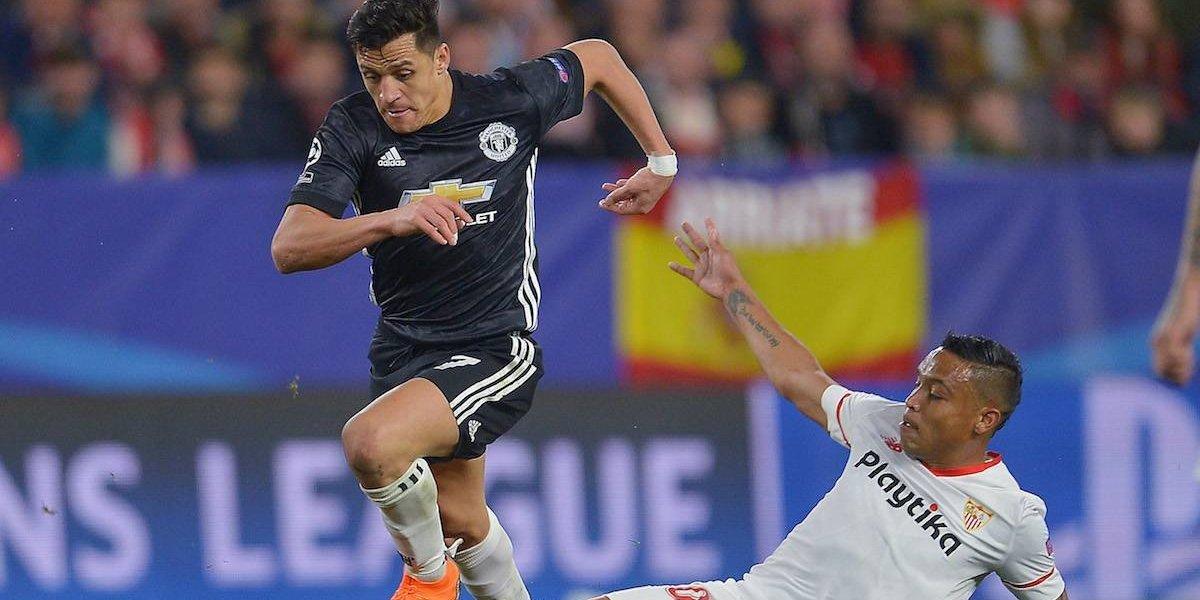 Sevilla se salva del Manchester United en casa en la ida de octavos de Champions