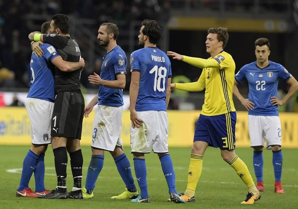 La selección italiana fracasó al quedar eliminada del Mundial.