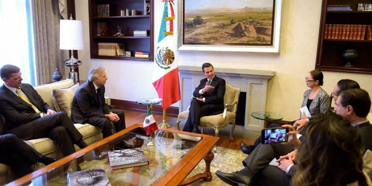 Phillipe Petitcolin, director de Safra, anuncia a Peña Nieto inversión de 25mdd