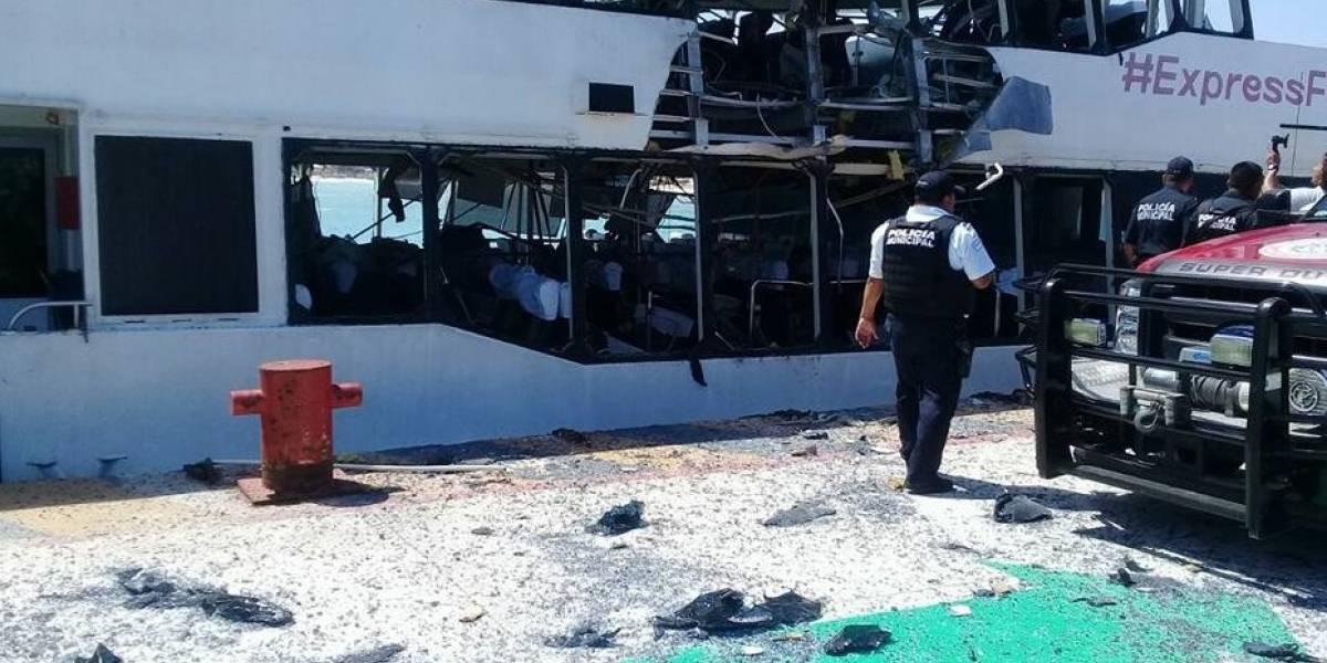 Explosión en ferry de México deja 18 heridos