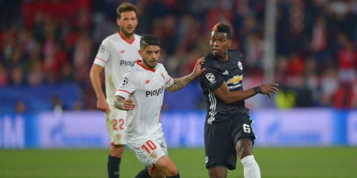 Manchester United empató con el Sevilla en la Champions League