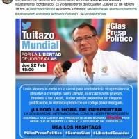 Rafael Correa fomenta campaña mundial a favor de Jorge Glas
