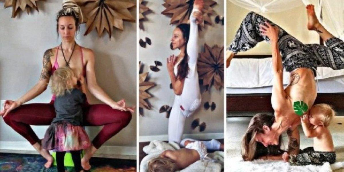 Mãe que amamenta fazendo yoga teve foto excluída pelo Instagram após polêmica