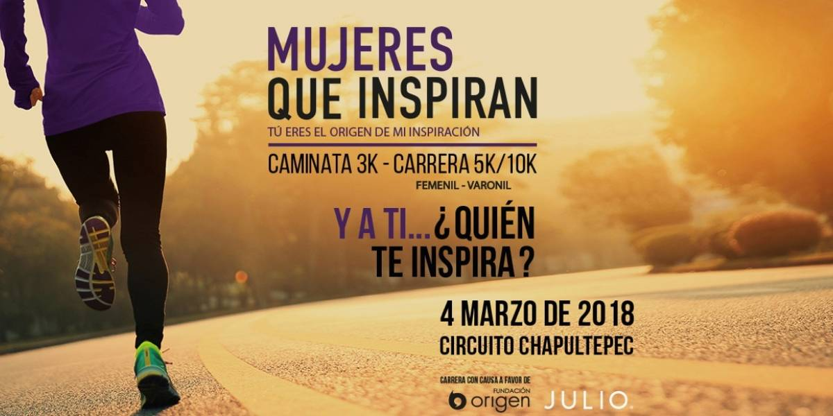 """Publisport y Fundación Origen te invitan a la carrera """"Mujeres que inspiran"""""""