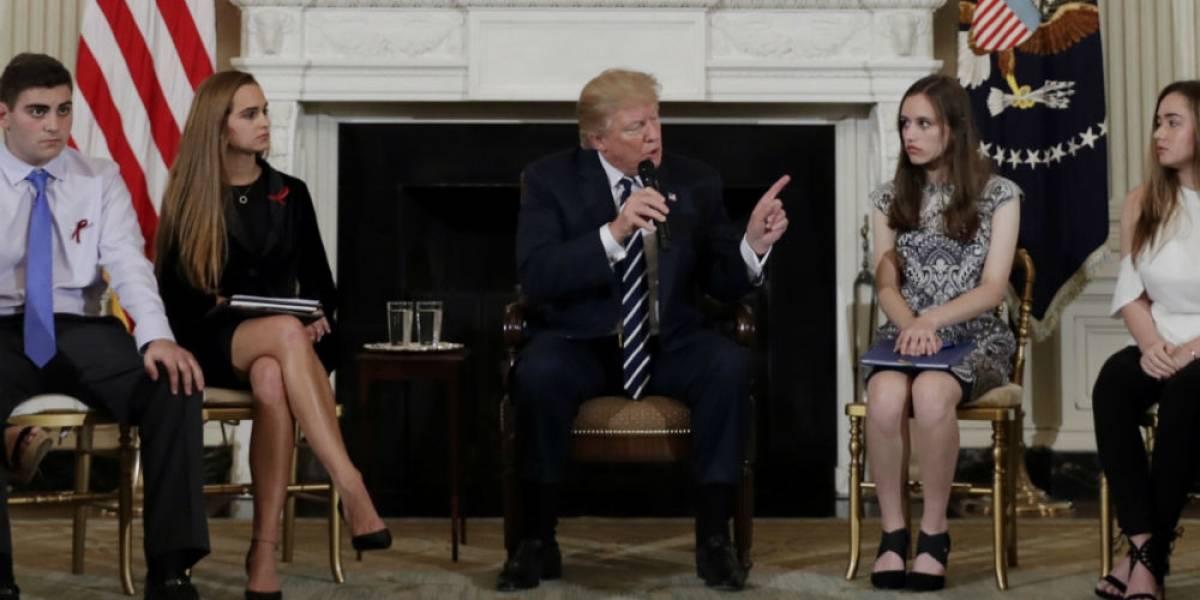 Trump propone armar a profesores para evitar tiroteos en escuelas
