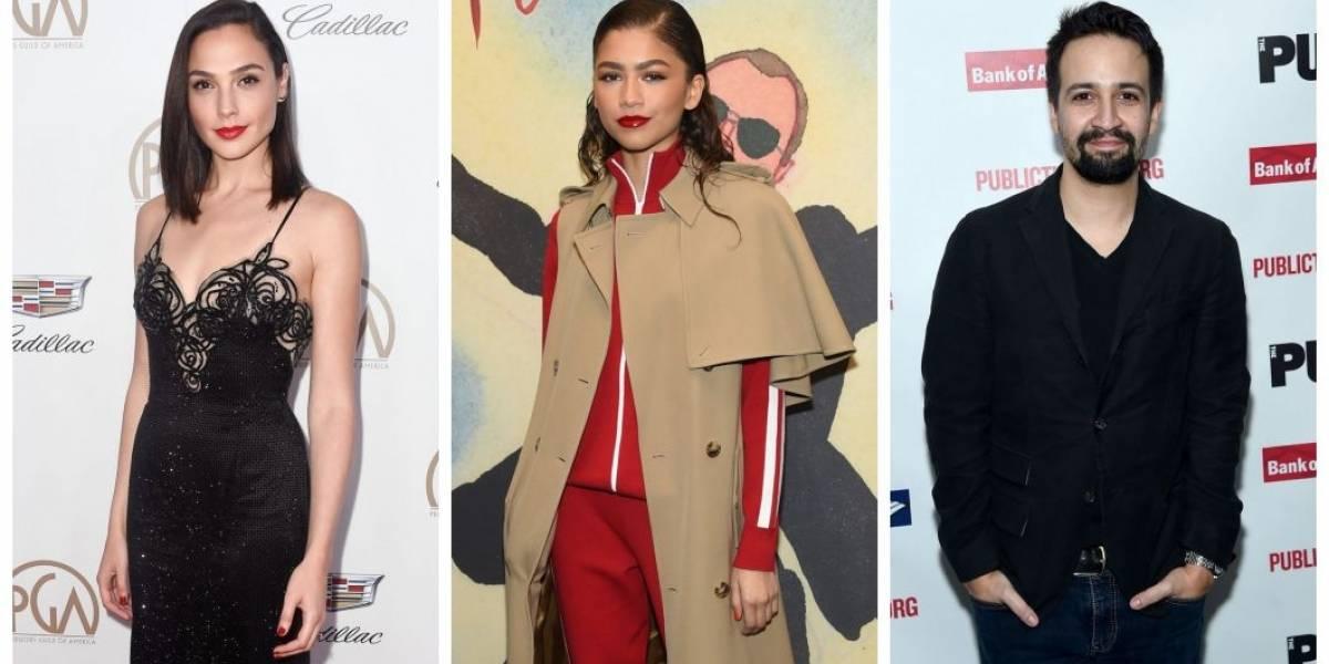 Oscar 2018: Gal Gadot, Zendaya e Lin-Manuel Miranda serão apresentadores do prêmio