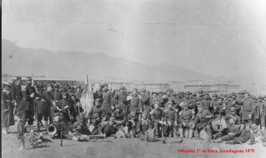 Ejército de Chile en Antofagasta en 1879
