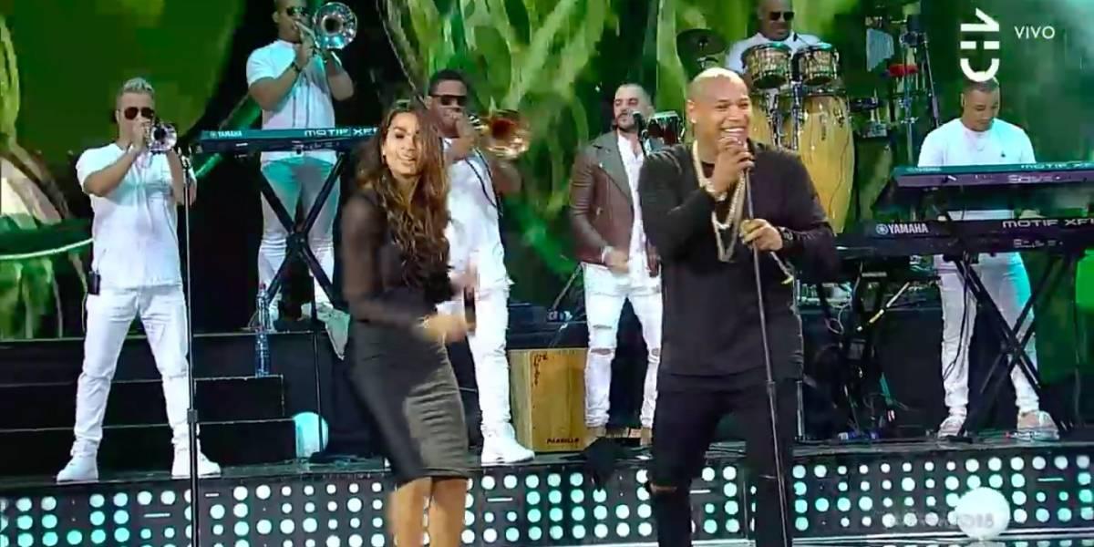 Viña 2018: Lisandra Silva subió al escenario e intentó cantar junto a Gente de Zona