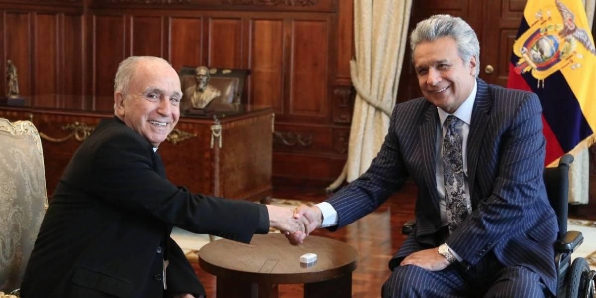 Lenín Moreno sostuvo reunión con la cúpula de la Iglesia católica ecuatoriana