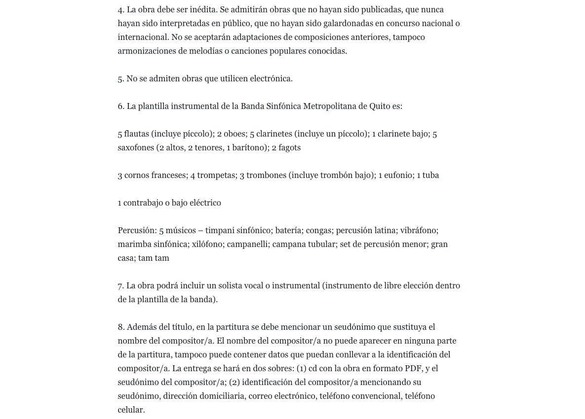 Banda Sinfónica Metropolitana de Quito Facebook