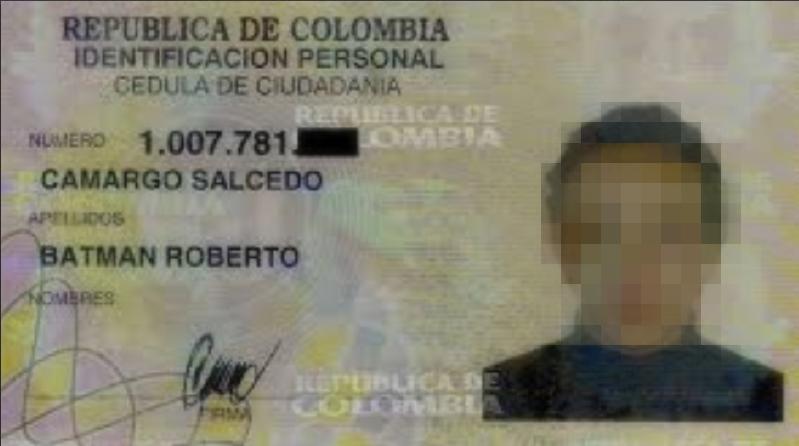 Batman Camargo y otros nombres curiosos que los colombianos se cambiaron el año pasado