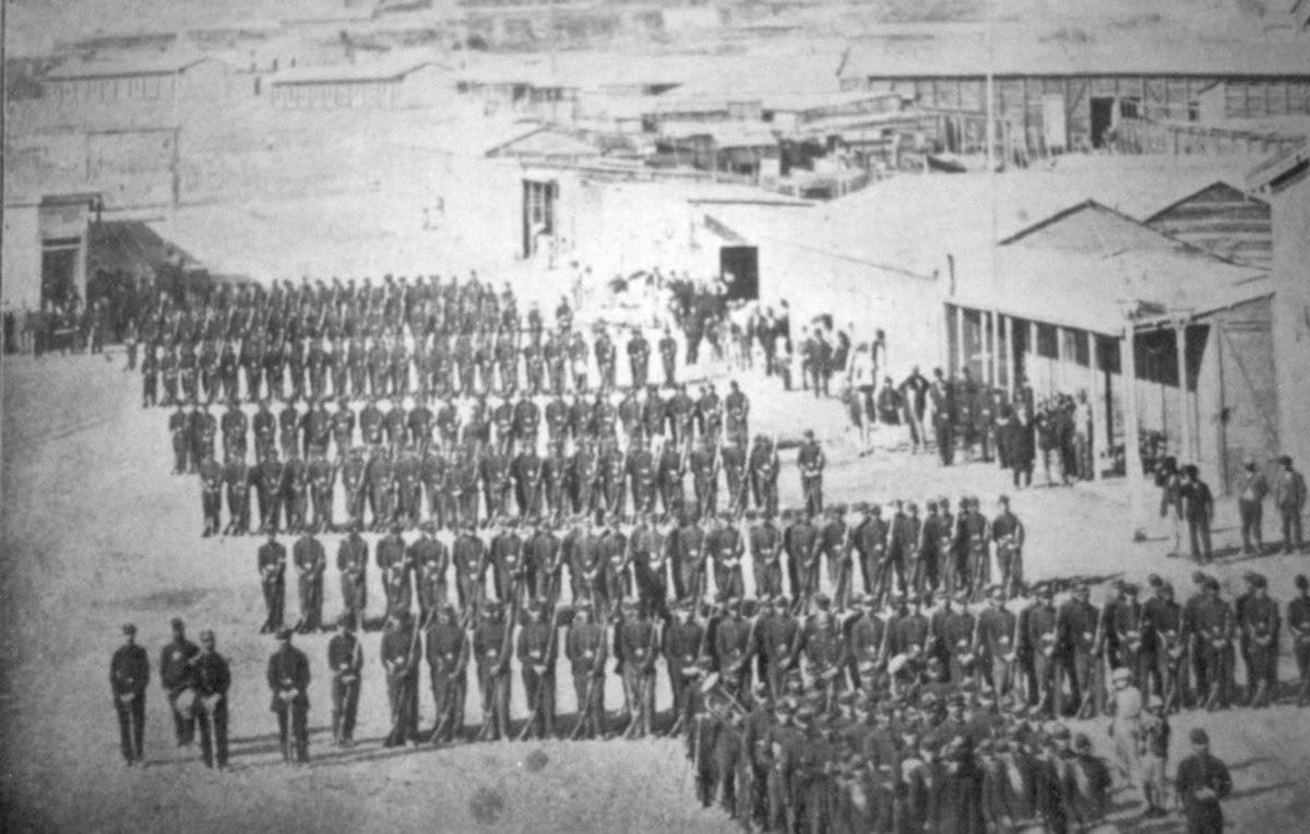 Ejército de Chile en Antofagasta 1879.
