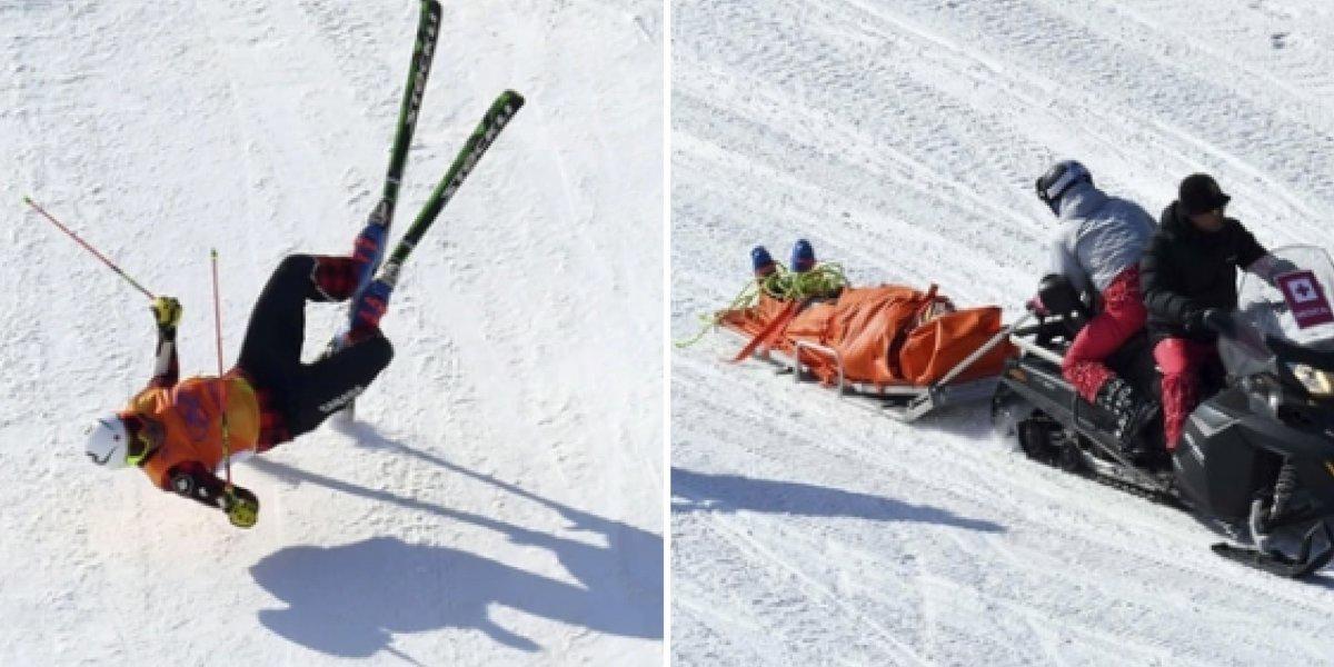 Canadense sofre múltiplas fraturas após terrível queda nos Jogos Olímpicos de Inverno; veja