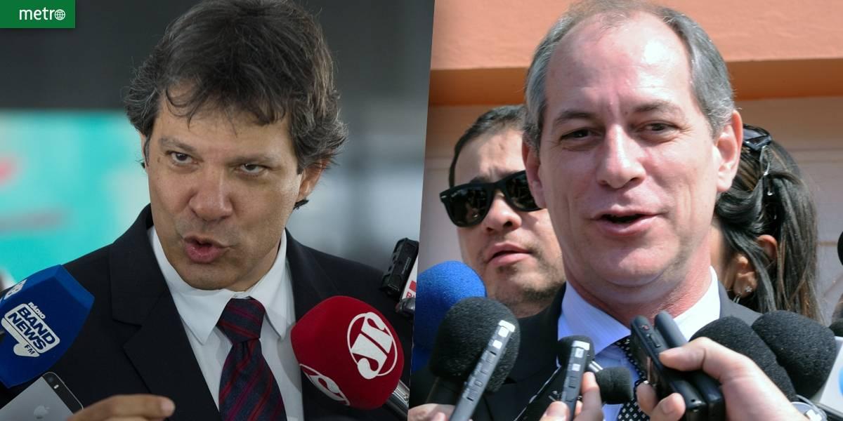 Ciro Gomes e Haddad avaliam união da esquerda este ano