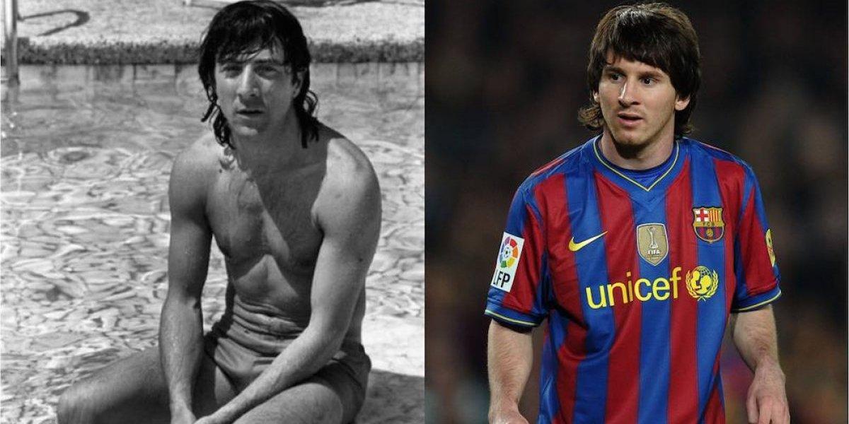 Foto se vuelve viral por el tremendo parecido de Dustin Hoffman con Lionel Messi