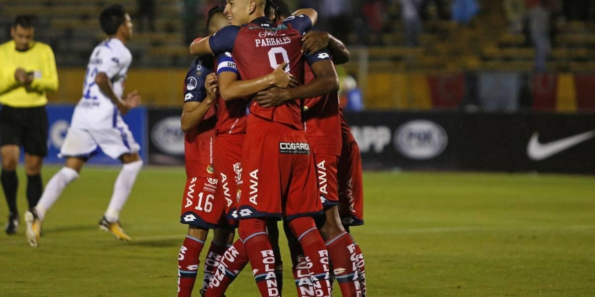 A El Nacional le anulan golazo de Miguel Parrales en Copa Sudamericana