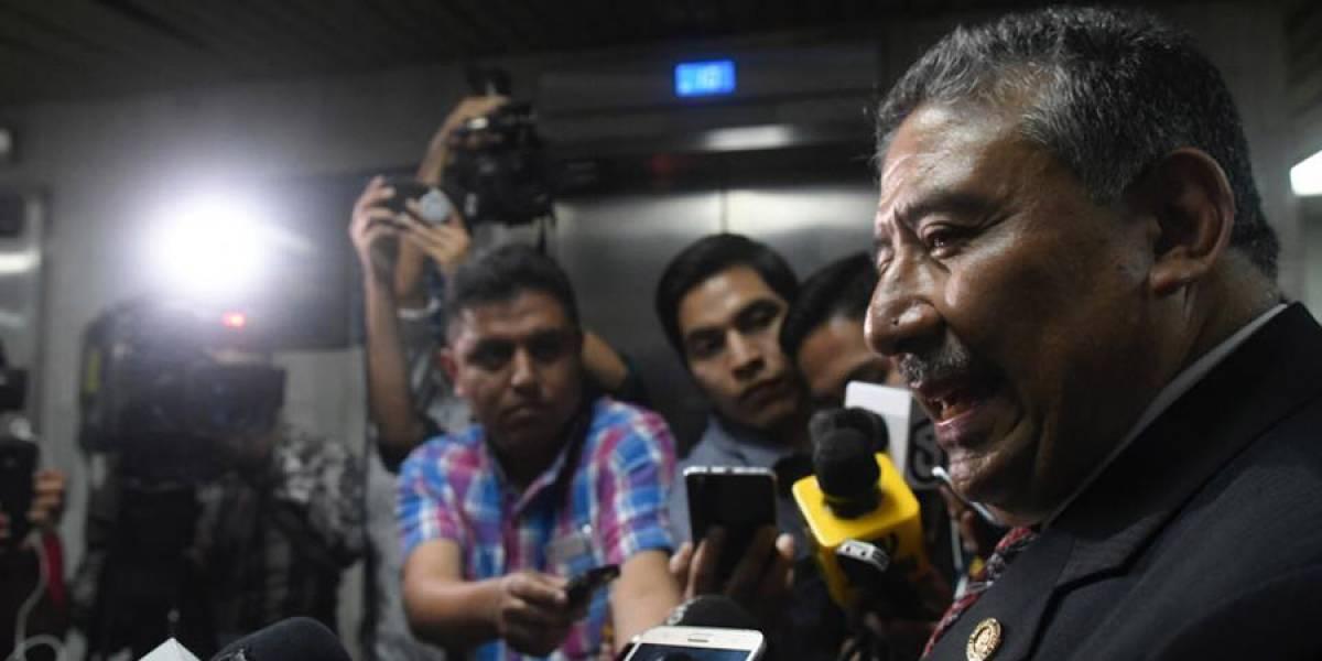 Presidente de la CSJ evita hablar del tema de antejuicio de Erick Melgar Padilla