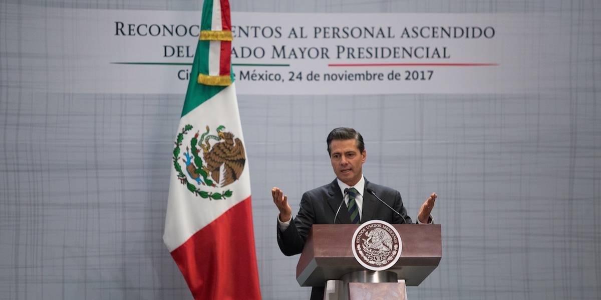 Peña Nieto encabeza el Día del Estado Mayor Presidencial