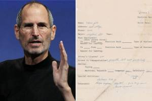Lo que una desconocida solicitud de empleo de Steve Jobs revela sobre el fundador de Apple