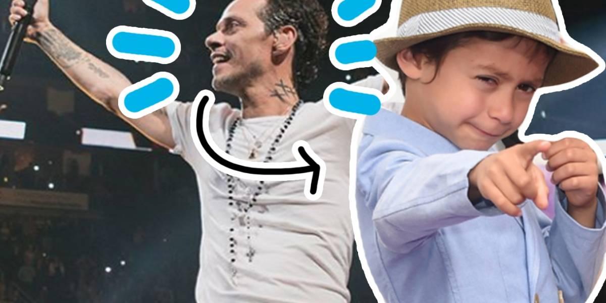 El increíble parecido del hijo de JLo con Marc Anthony