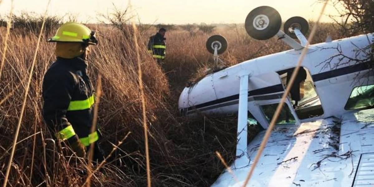 Se estrella avioneta durante aterrizaje en el Aeropuerto de Morelia