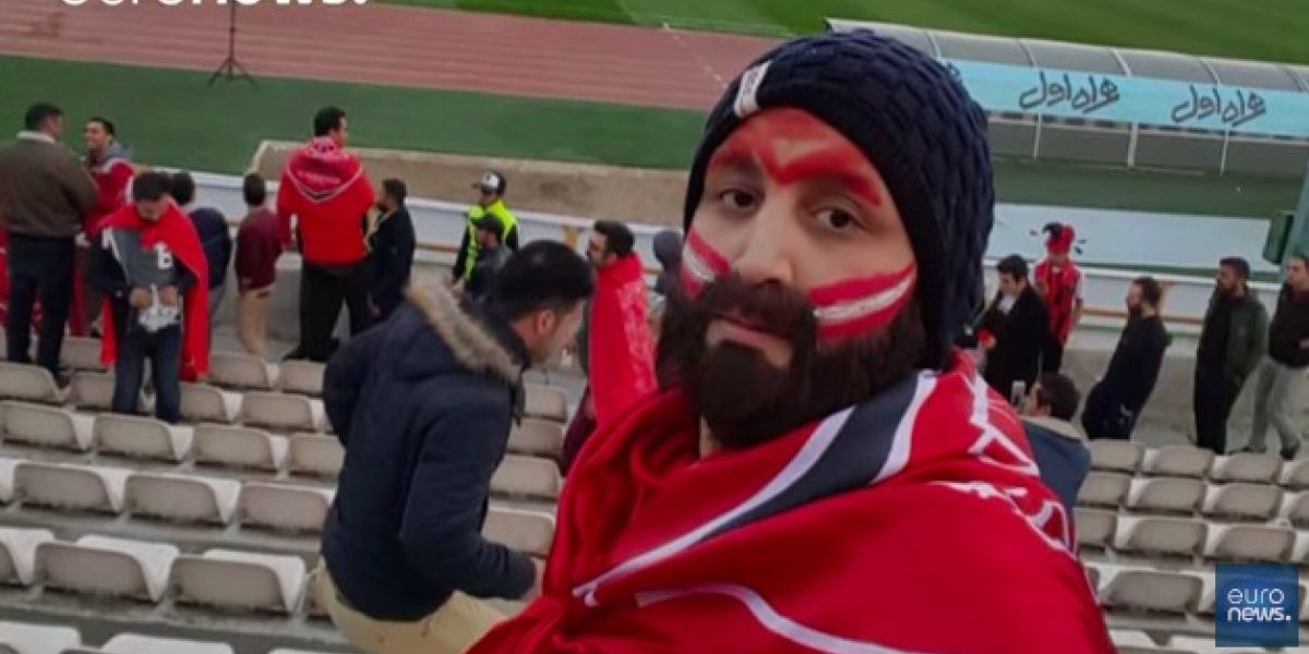 Mujer iraní se viste de hombre para asistir a partidos de futbol