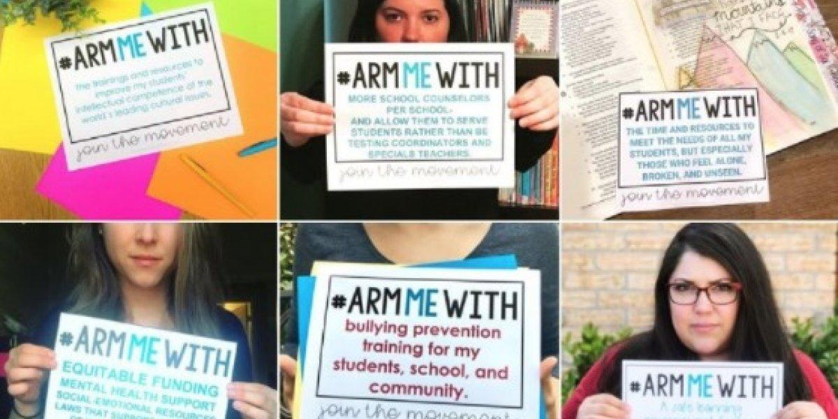 #ArmMeWith: La campaña de los profesores en contra de la propuesta de Trump de armar a los maestros