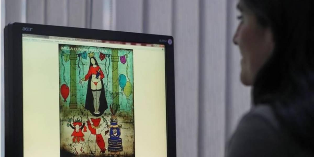 La pintura de una virgen en tanga desata polémica en redes sociales