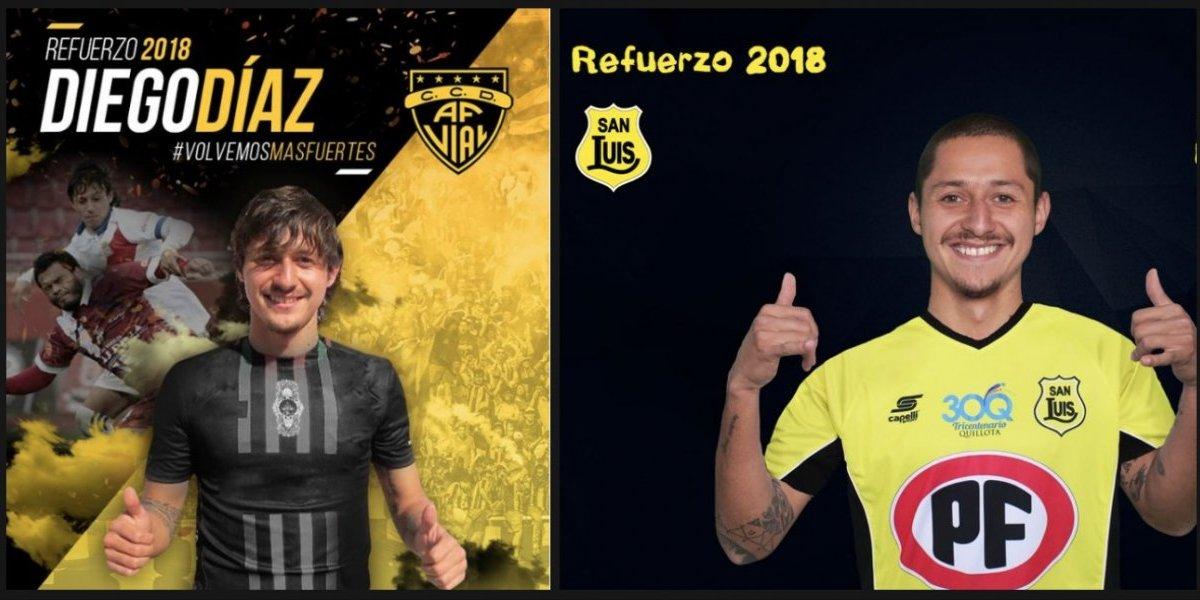 Diego Díaz, el lateral que en una semana pasó de ser presentado en Fernández Vial a fichar a última hora en San Luis