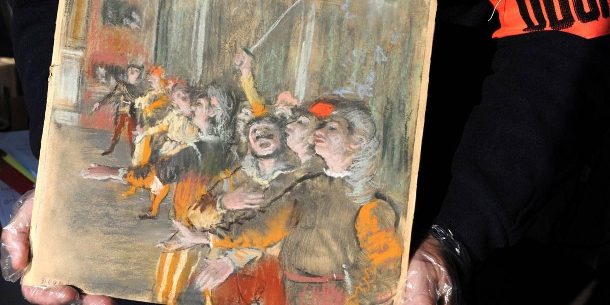 Após 9 anos, pintura de Degas roubada é encontrada dentro de ônibus em Paris