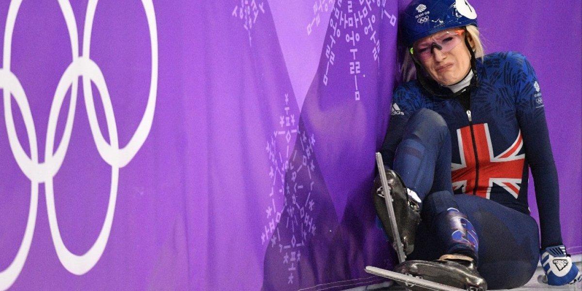 """Británica Elise Christie es la deportista """"con peor suerte"""" en los Juegos de Invierno"""