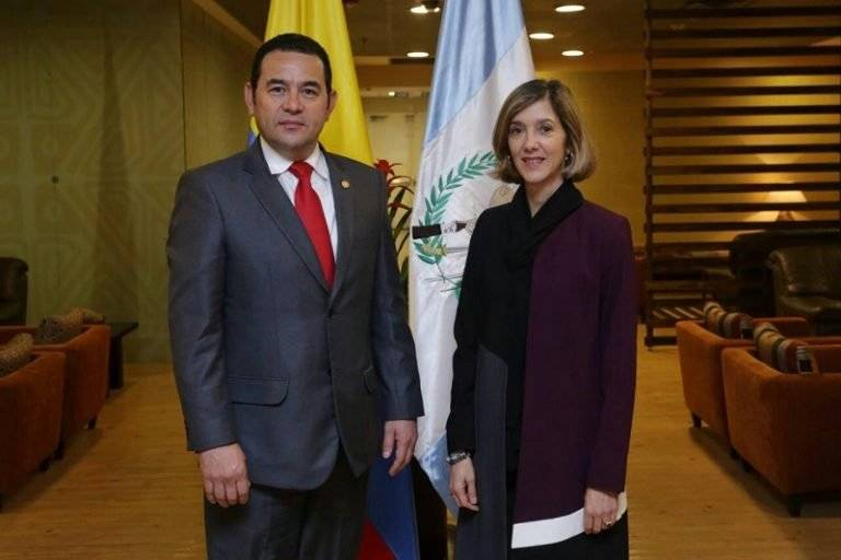 Jimmy Morales en Colombia