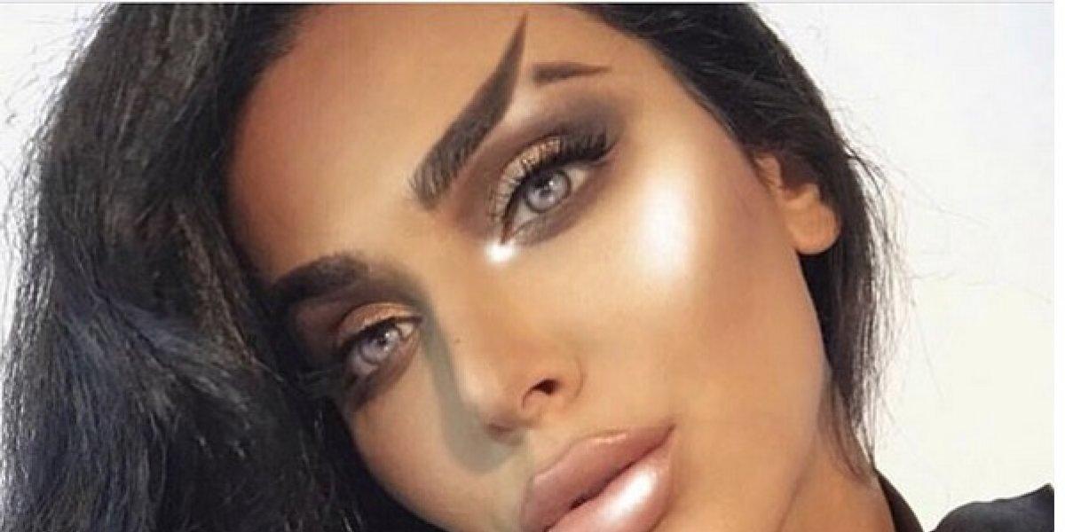 Otra rara tendencia de cejas 'triunfa' en Instagram