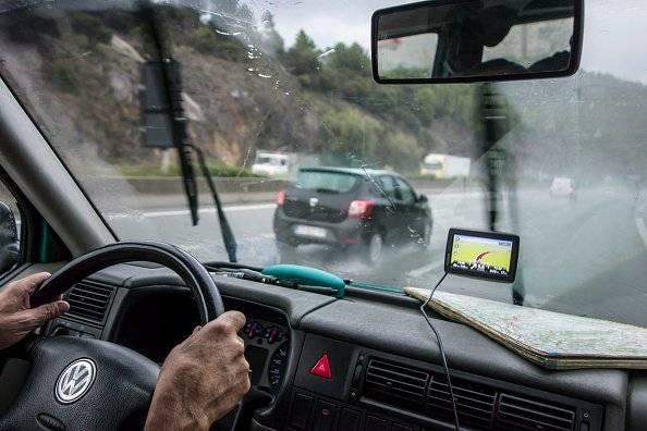 Mal tiempo en Quito: Parabrisas de carro empañado